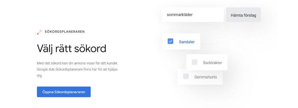 Google sökordsplaneraren